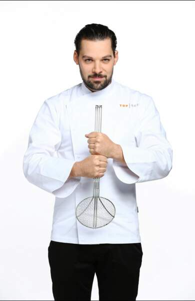 Voici Xavier Pincemin, 25 ans, second de cuisine au restaurant Gordon Ramsay au Trianon, à Versailles