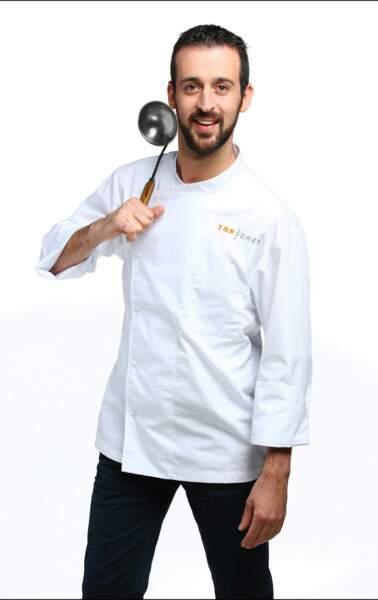 Clément Bruneau a 34 ans et est second de cuisine dans un restaurant girondin