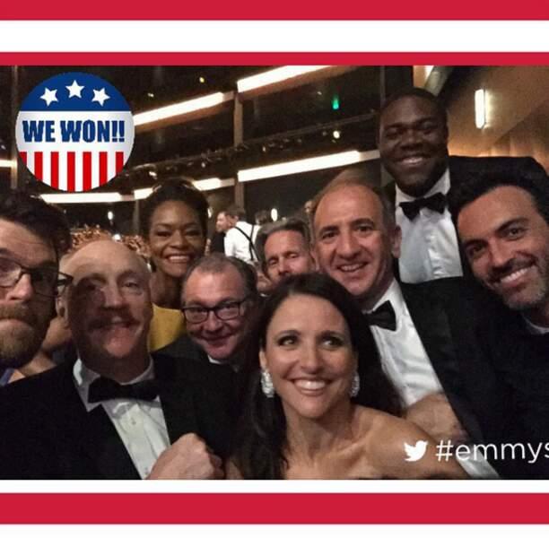 On est aux Emmy ou dans un meeting politique ? Ah bah c'est l'équipe de Veep ça !