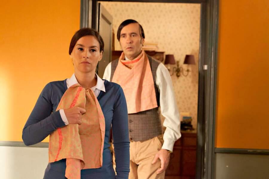 La sœur d'Aymeric interprétée par Vanessa Demouy...