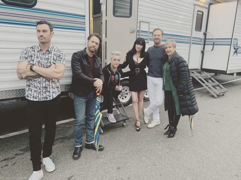 En attendant on ne sait quoi, les acteurs de Beverly Hills prennent la pose