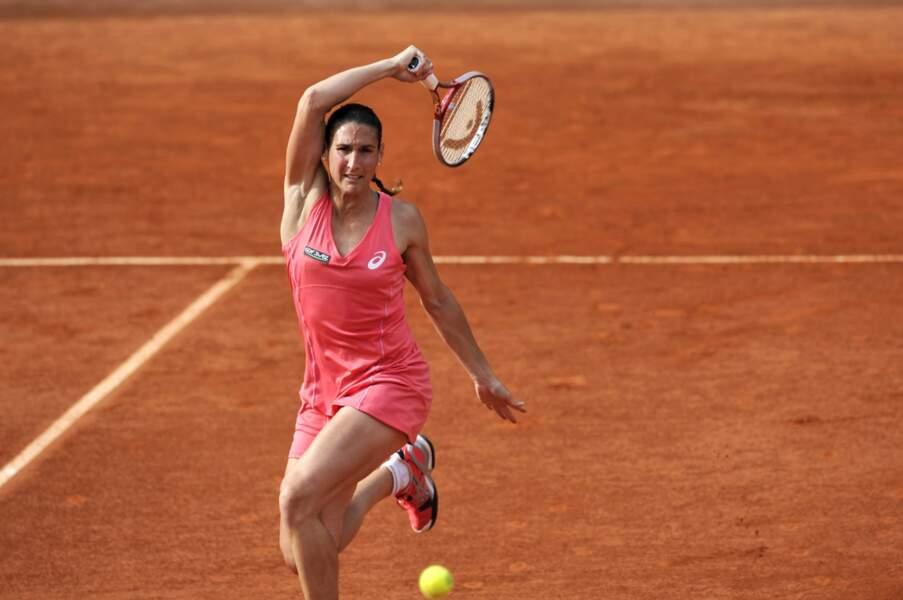 Viriginie Razzano a lutté trois sets pour l'emporter contre la slovaque Zuzana Kucova