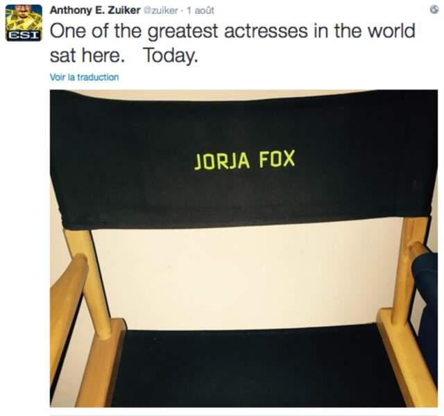 """""""L'une des plus grandes actrices au monde"""", selon Anthony Zuiker"""