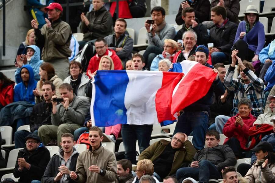 Les joueurs tricolores peuvent compter sur le soutien sans faille du public français