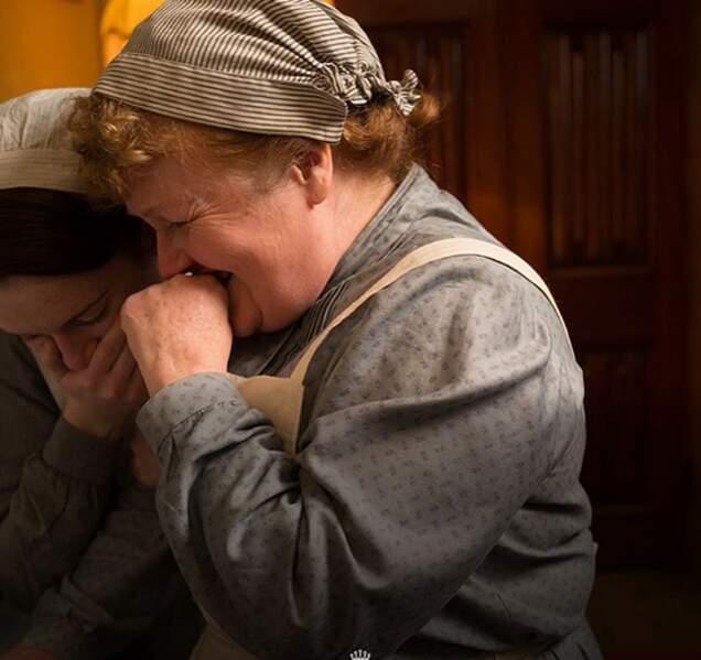 On rigole bien dans la cuisine de Downton Abbey