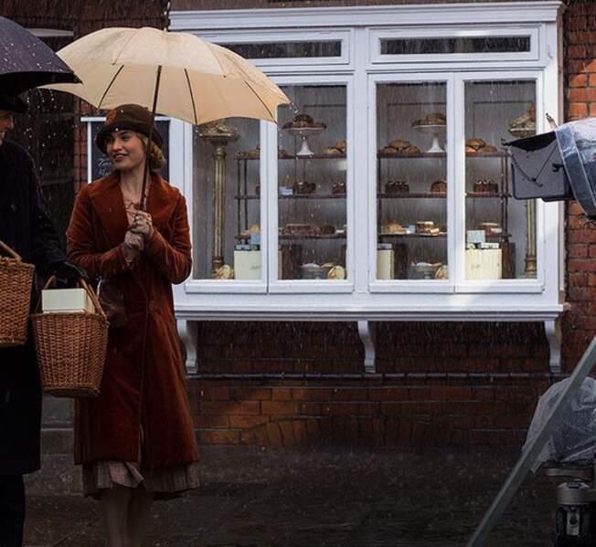 À Downton Abbey, on tourne peu importe qu'il pleuve ou qu'il vente