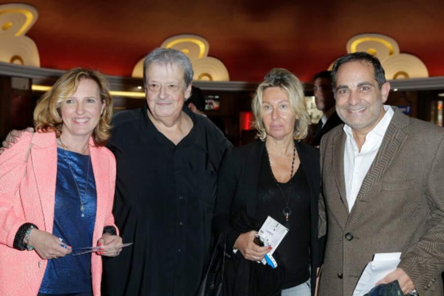 Guy Carlier et Laurent Fontaine ont assisté au spectacle avec leurs épouses respectives