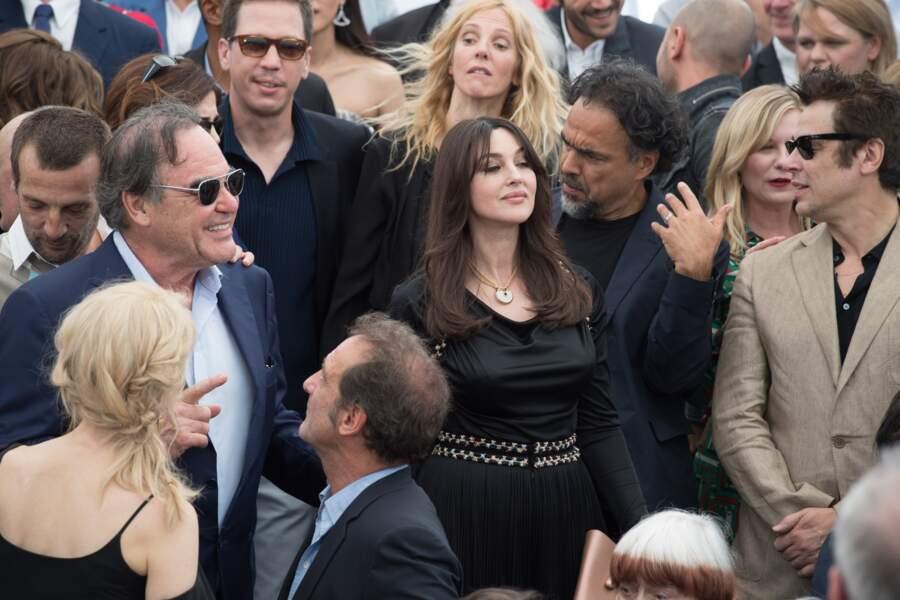 Monica Bellucci avec Oliver Stone