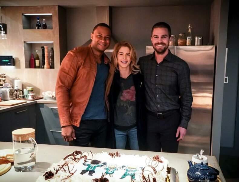 Les acteurs d'Arrow ont le sourire