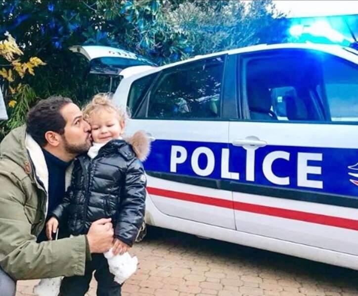 Samy a retrouvé le petit Tom (le fils d'Ingrid Chauvin) sur le plateau de Demain nous appartient !