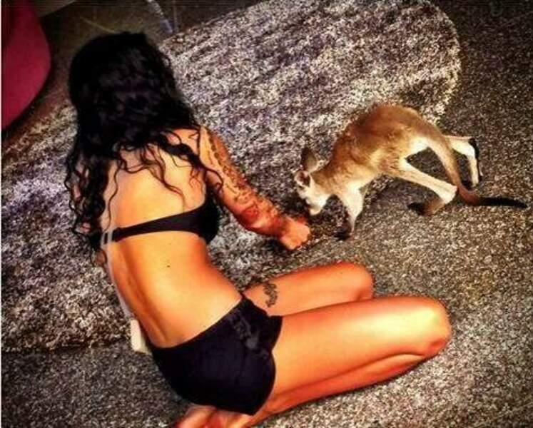 Shanna des Marseillais et Sydney, leur kangourou
