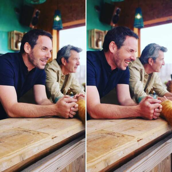 Jérémy Banster et Fred Bianconi façon cœur des hommes lors du tournage d'Un si grand soleil