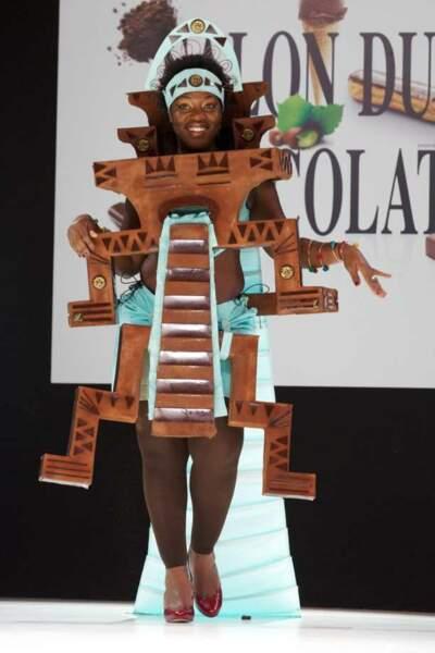 Claudia Tagbo au Salon du chocolat