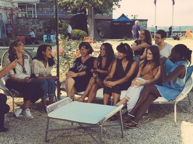 L'actrice en bonne compagnie à Angoulême pour la promotion du film choc La Taularde (2016)
