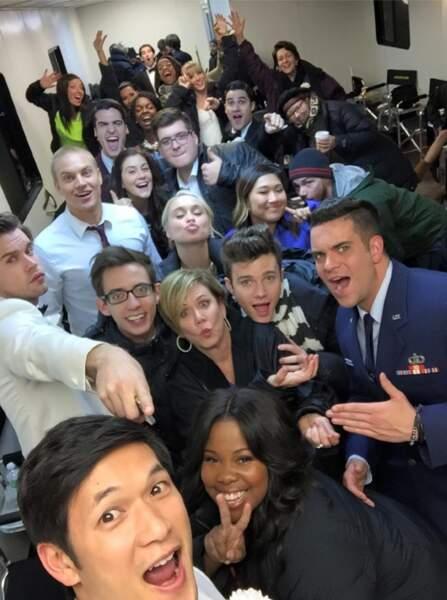 Selfie de tous les acteurs de Glee