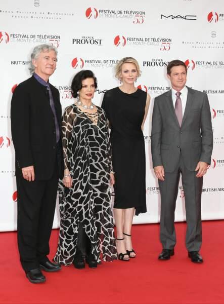 … et avec Patrick Duffy, Bianca JaggeretEric Close, présidents des jurys séries, téléfilms et actualité