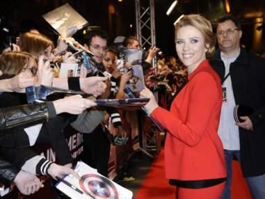 Scarlett Johansson, radieuse à l'avant-première de Captain America