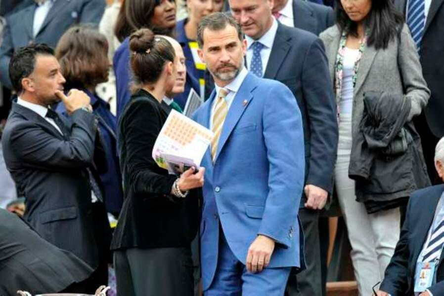 Felipe de Bourbon, héritier du trône d'Espagne, a supporté ses compatriotes