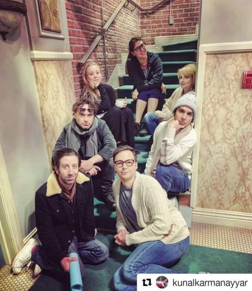 Le gang de Big Bang Theory au grand complet
