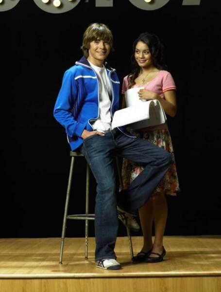 Zac Efron et Vanessa Hudgens, couple adolescent dans High School Musical (2006)