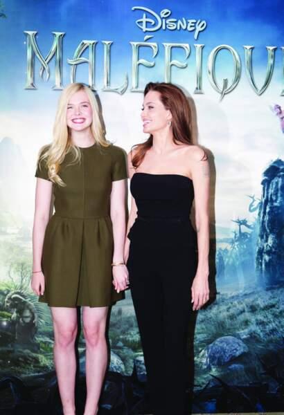 Les deux actrices ont assuré la promotion du film Maléfique à Paris