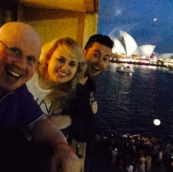 Rebel Wilson, à Sydney avec le comédien anglais Matt Lucas