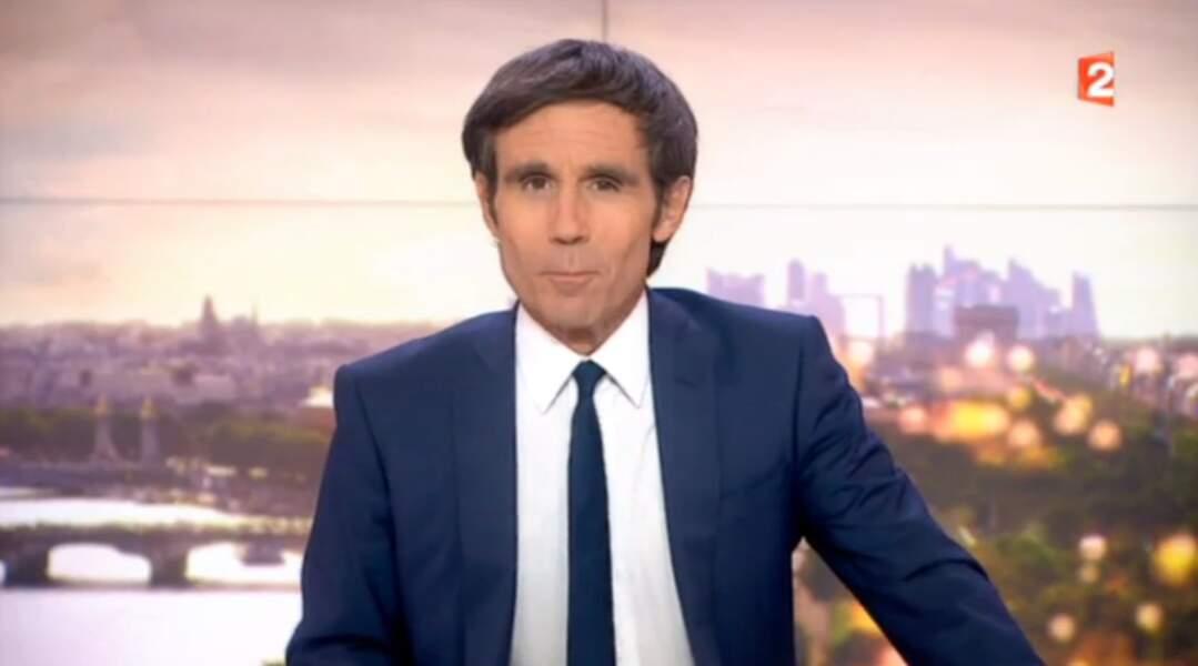 David Pujadas présente le JT de 20 heures de France 2 depuis 2001.