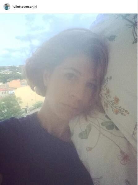 Et énorme panne d'oreiller pour Juliette Tresanini, avant de rejoindre le plateau de Demain nous appartient