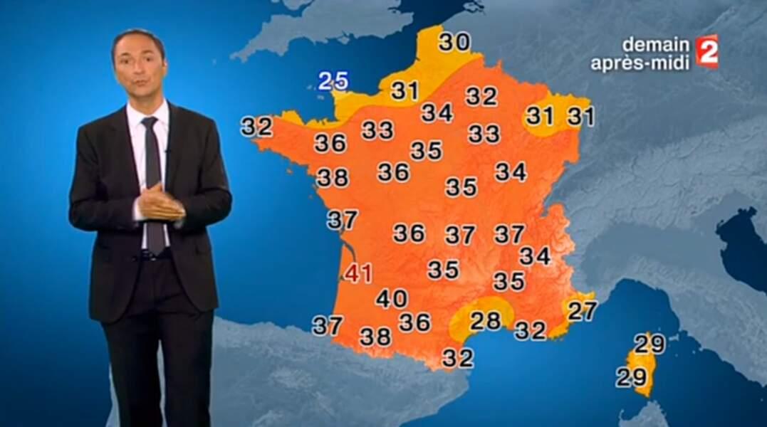 Après BFM TV, Philippe Verdier a présenté la météo sur France 2