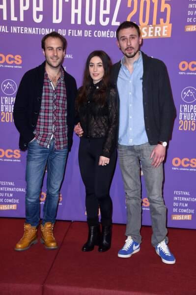 Antoine Gouy, Fanny Valette et Vincent Leyris, acteurs dans le film en compétition A Love You