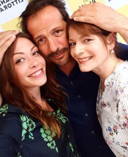 Johanna, Franck et Blanche :  ne sont-ils pas beaux tous les trois ?