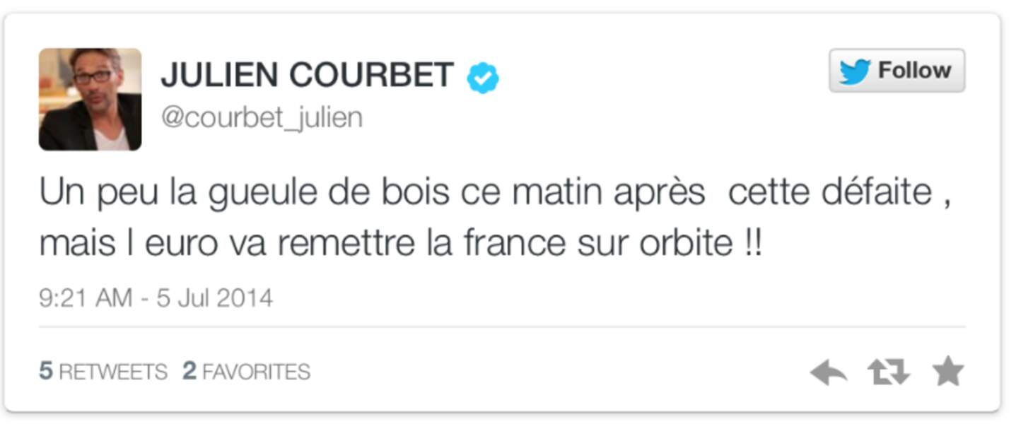 Julien Courbet voit loin