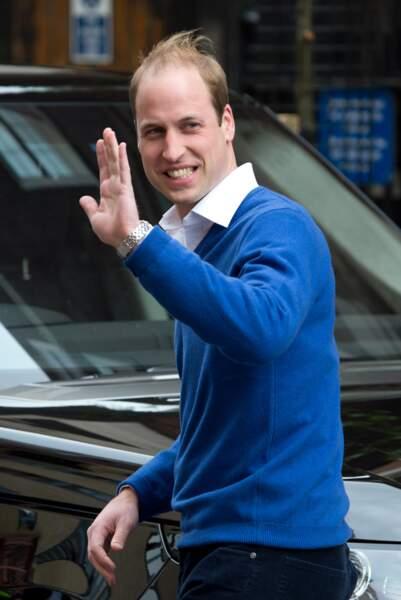 Le Prince William a brièvement quitté son épouse et leur fillette…