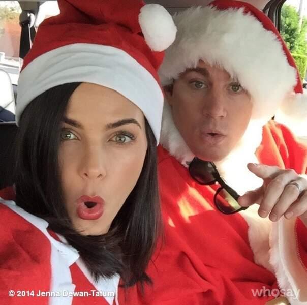 Mr et Mme Channing Tatum jouent au Père Noël