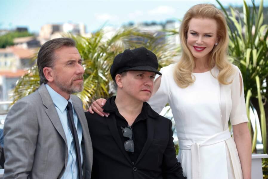 Le réalisateur Olivier Dahan entouré de ses acteurs, Nicole Kidman et Tim Roth