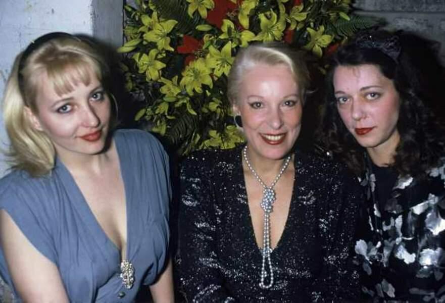 Avec ses filles Pauline et Elisabeth au Festival du film policier de Cognac en 1986