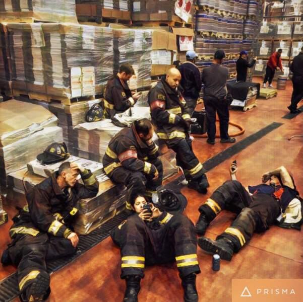 Tournage éreintant pour les pompiers de Chicago Fire