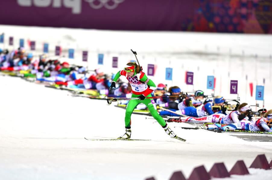 Darya Domracheva (biathlon mass start)