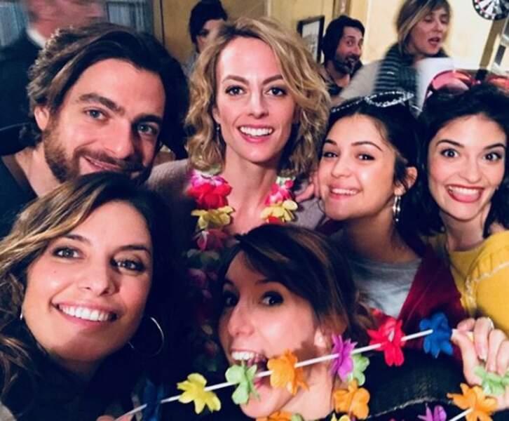 Puis le selfie ! Barbara entourée de ses amies : Mélanie, Coralie, Alison et Sabrina