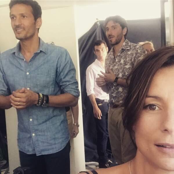 Jennifer Lauret adore prendre des photos de ses partenaires sur le tournage de la série de TF1