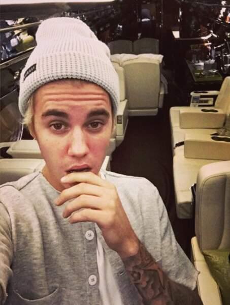 Justin Bieber a inauguré son nouveau jouet, son jet privé, cadeau du Père Noël