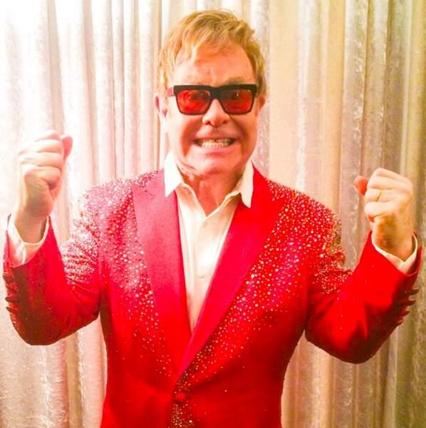 Elton John en concert à New York
