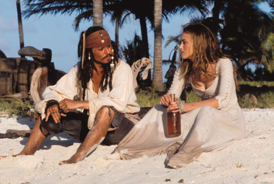 Pirates des Caraïbes 1 : la malédiction du Black Pearl (2003) : avec Johnny Depp