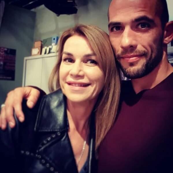 Moïse Santamaria avec Valérie Kaprisky, qui arrivera bientôt dans la série...