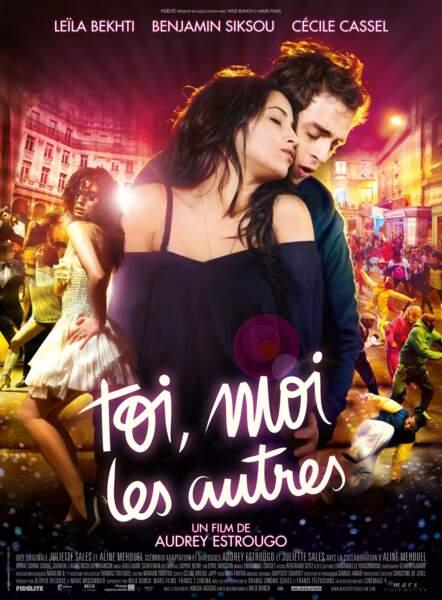 Dans Toi, moi les autres (2011) d'Audrey Estrougo, elle vit une histoire d'amour avec Benjamin Siksou