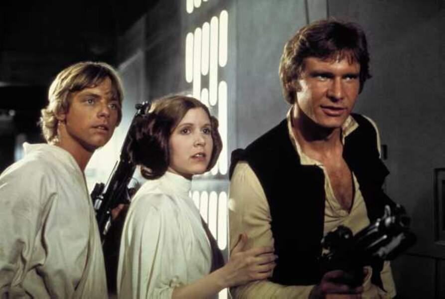 Luke Skywalker, la Princesse Leia et Han Solo