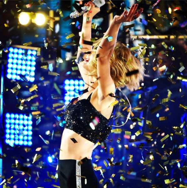 Taylor Swift en concert à Times Square à New York