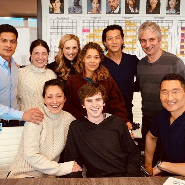 Photo de famille pour les acteurs de Good Doctor