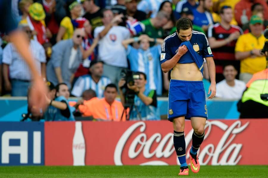 Grosse déception de l'Argentin après son but refusé