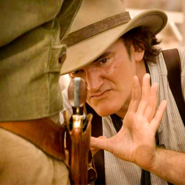 Quentin Tarantino sur le tournage de Django Unchained (2013)